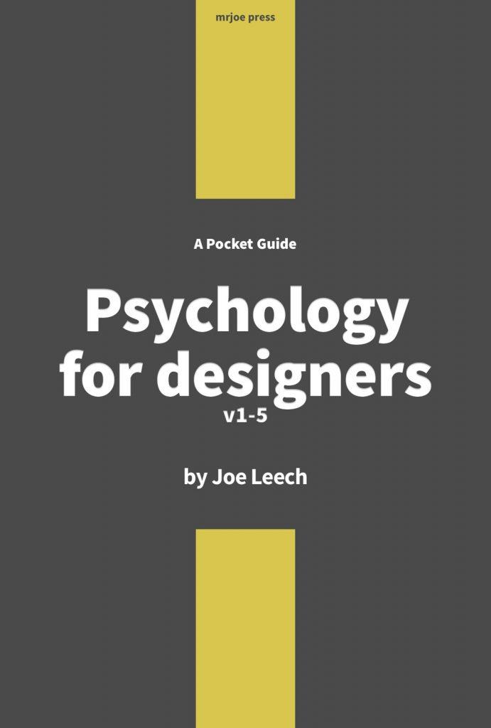 Psychology for designers v1-5 the book